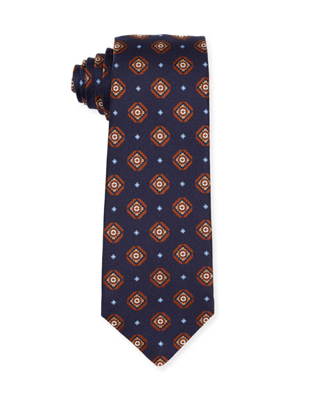 Isaia Medallion Silk Tie