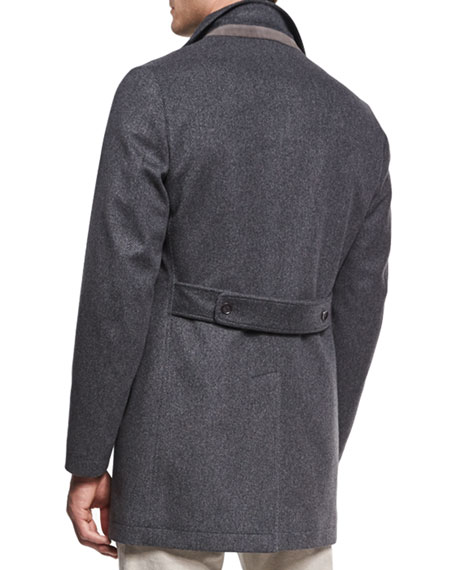 Parkway Tweed Overcoat, Gray