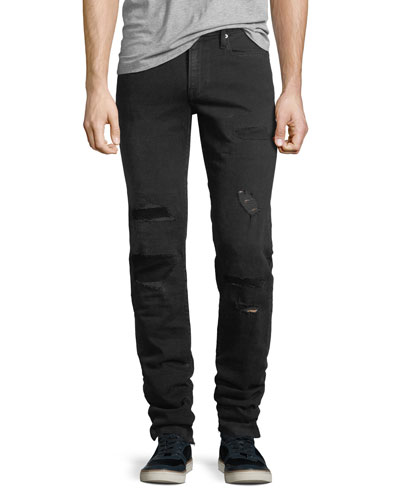 L'Homme Buxton Distressed Skinny Jeans