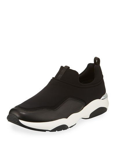 Giolly Leather & Neoprene Slip-On Sneaker