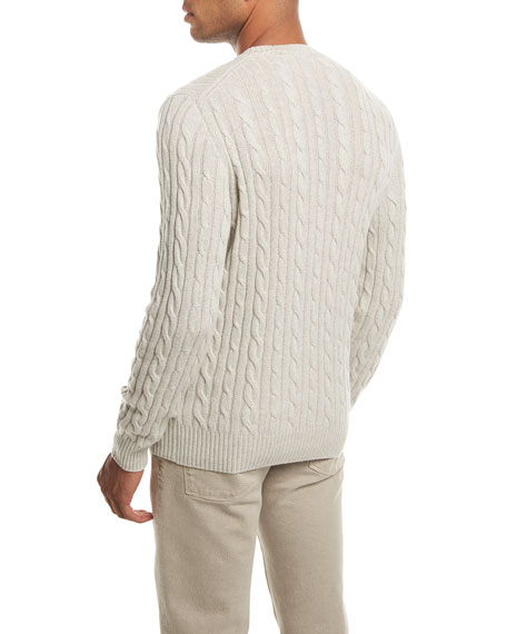 Cable-Knit Baby Cashmere Sweater