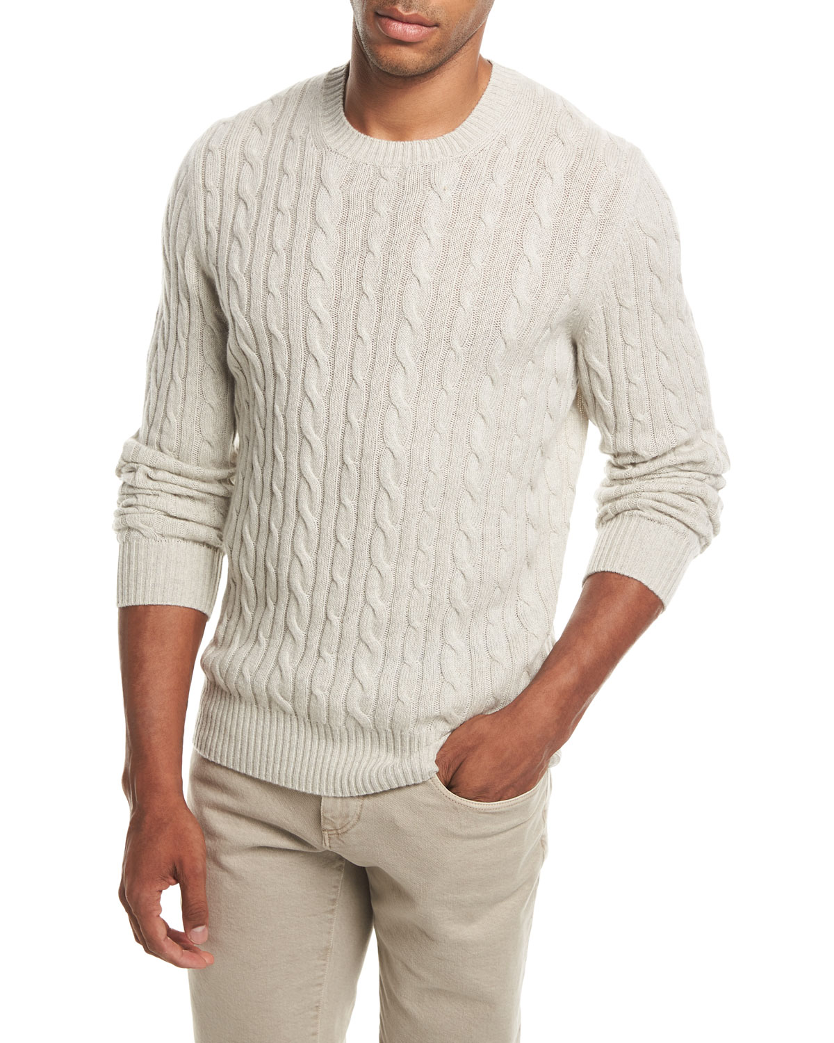 83448faf2 Loro Piana Cable-Knit Baby Cashmere Sweater