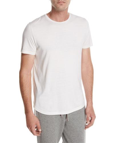 Cotton Crewneck T-Shirt, Beige