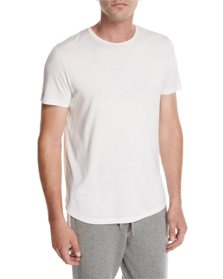 Loro Piana Cotton Crewneck T-Shirt, Beige