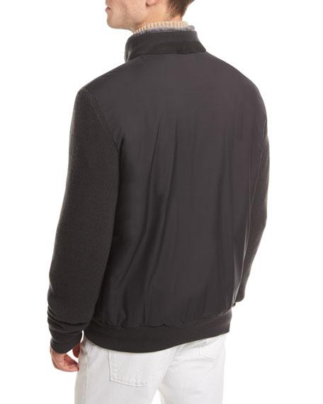 Castorino Fur-Lined Bomber Jacket