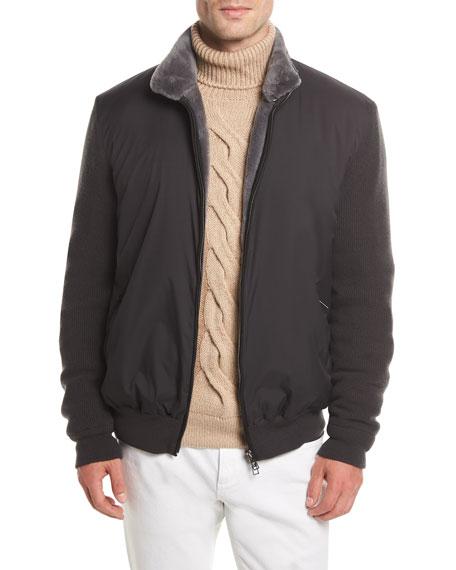 Loro Piana Castorino Fur-Lined Bomber Jacket