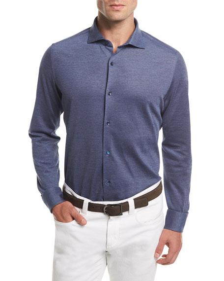 Loro Piana Woven Cotton Oxford Sport Shirt
