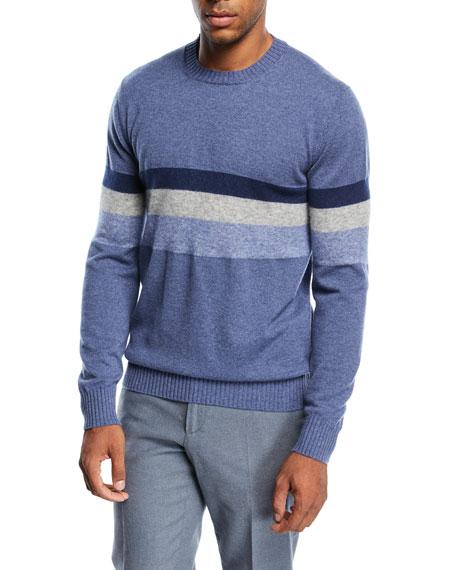 Loro Piana Multi-Stripe Cashmere-Blend Sweater