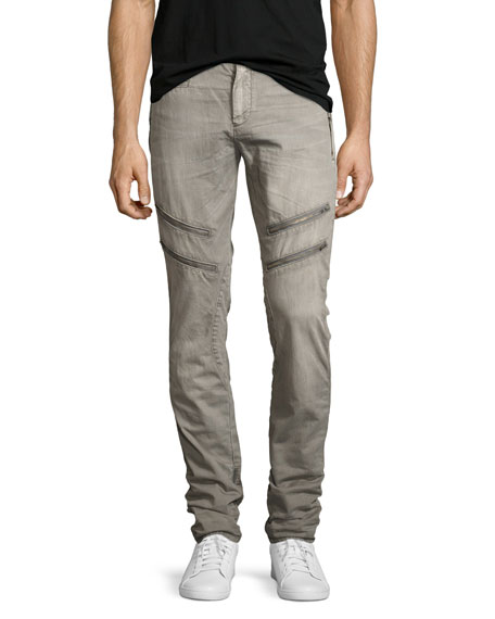 Allergies Slim Moto Pants, Gray