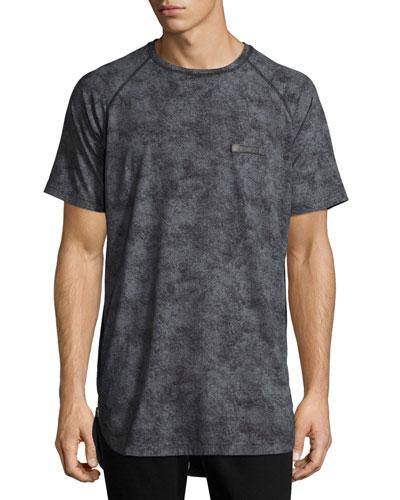 Dandelions Side-Zip Raglan T-Shirt, Black