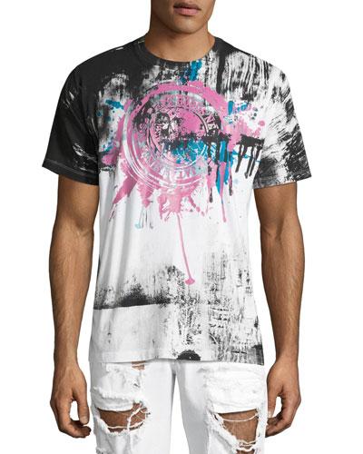 Garden Paint-Splatter T-Shirt, White