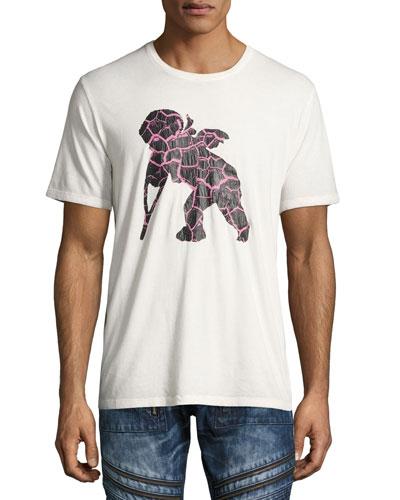 Frisbee Cherub Logo-Print T-Shirt, White