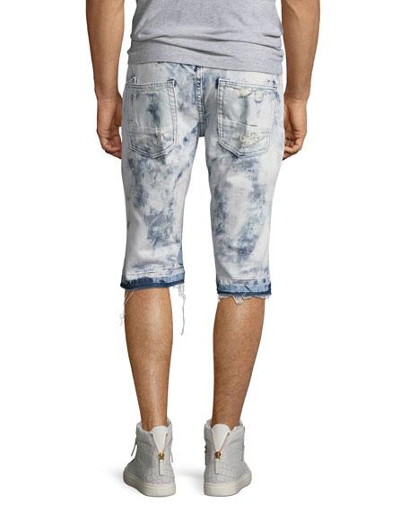 Joy Ride Bleached Shorts, Light Blue