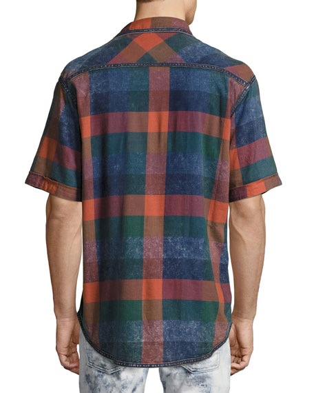 Lawn Chair Plaid Denim Shirt, Multicolor