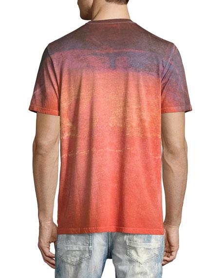 Pollen-Splatter USA Tie-Dye T-Shirt, Orange