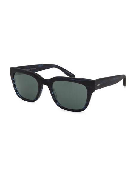 Barton Perreira Stax Rectangular Acetate Sunglasses, Matte