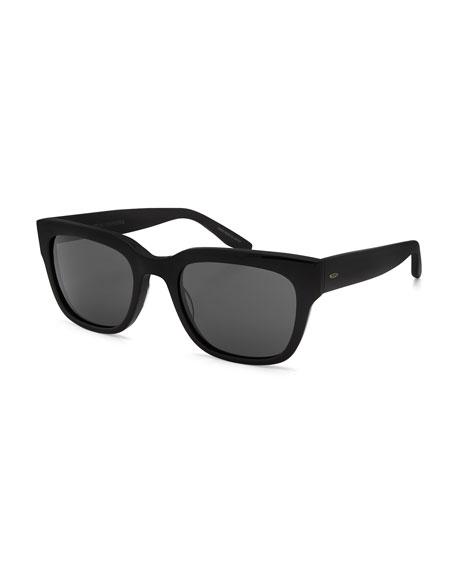Stax Rectangular Acetate Sunglasses, Black/Vintage Gray