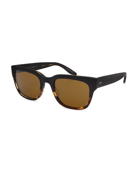 Barton Perreira Stax Rectangular Acetate Sunglasses,
