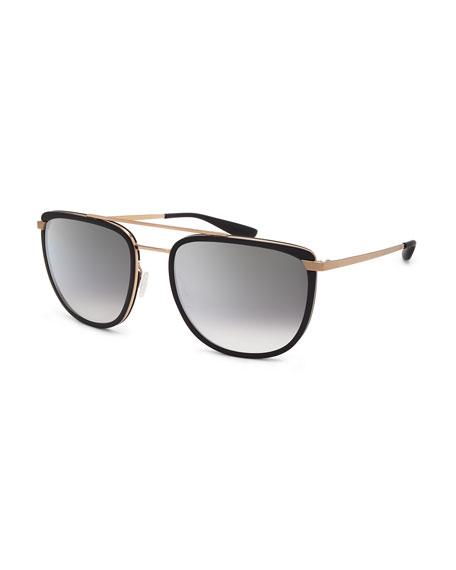 Barton Perreira Lafayette Metal & Acetate Navigator Sunglasses,