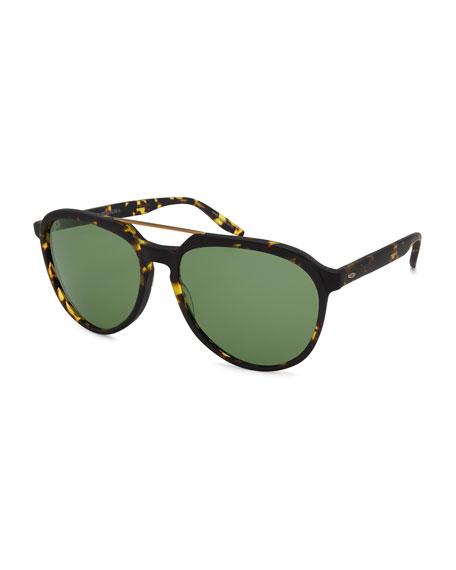Barton Perreira Bulger Acetate Teardrop Aviator Sunglasses, Matte
