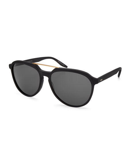 Barton Perreira Bulger Acetate Teardrop Aviator Sunglasses,