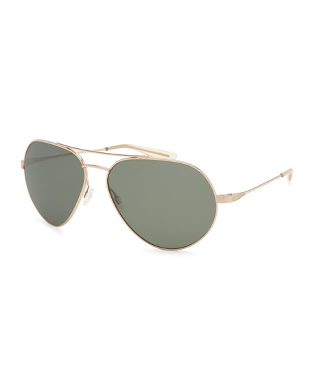 Barton Perreira Men's Commodore Polarized Metal Aviator
