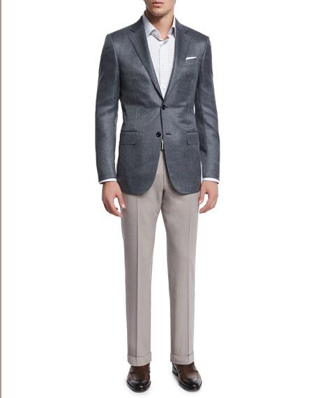High-Performance Wool Twill Trousers, Tan