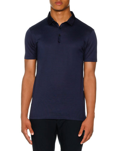 Grosgrain-Collar Polo Shirt