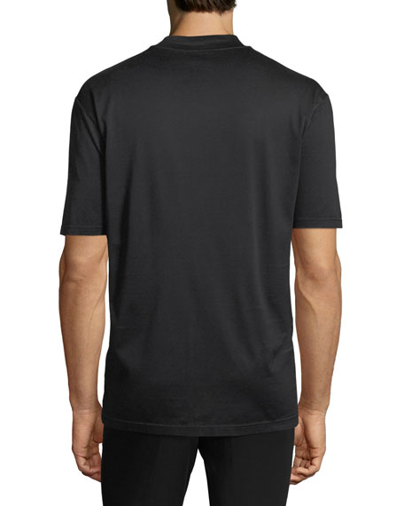 Mock-Neck Jersey T-Shirt