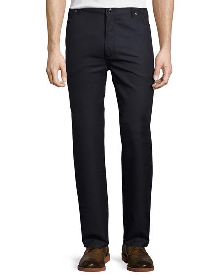 Wool-Cotton Five-Pocket Pants