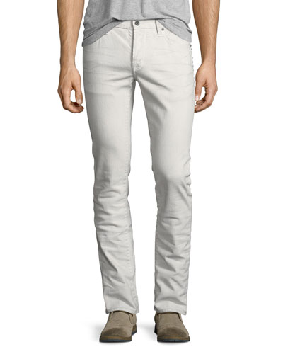 Wight Studded Slim-Straight Jeans
