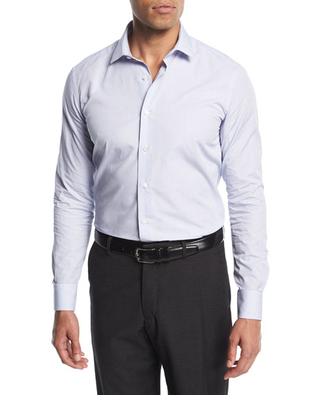 Lanvin Grid Cotton Dress Shirt