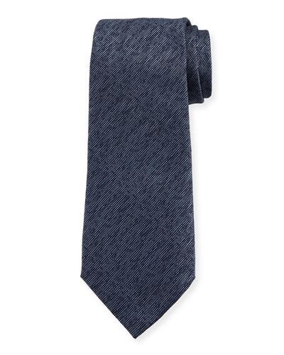 Silk Mélange Tie, Blue