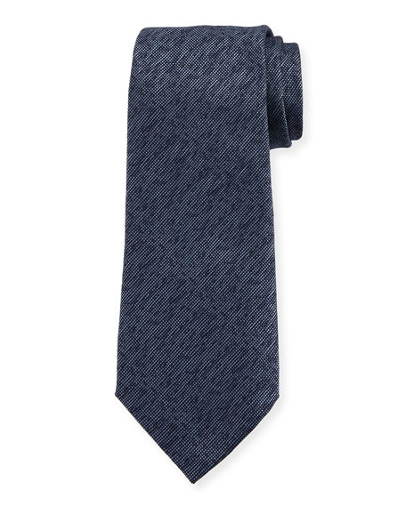 Armani Collezioni Silk M??lange Tie, Blue