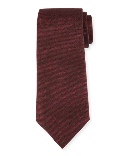 Melange Silk Tie, Burgundy/Red