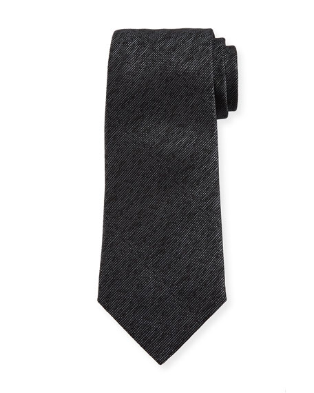 Armani Collezioni Silk M??lange Tie, Charcoal