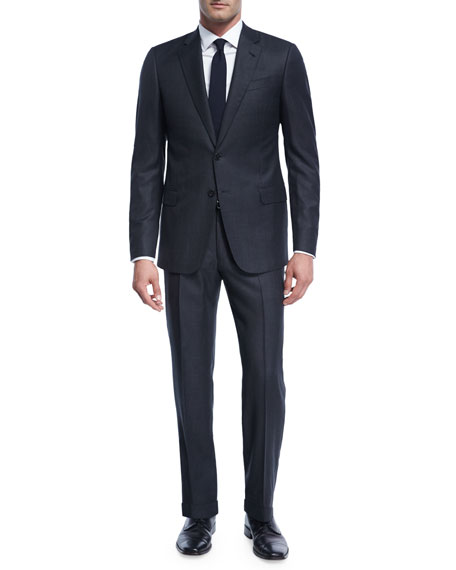 Armani Collezioni Birdseye Windowpane Wool Two-Piece Suit