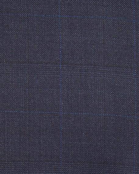 Tonal Plaid Wool Two-Piece Suit