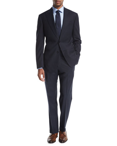 Tonal Windowpane Wool Two-Piece Suit