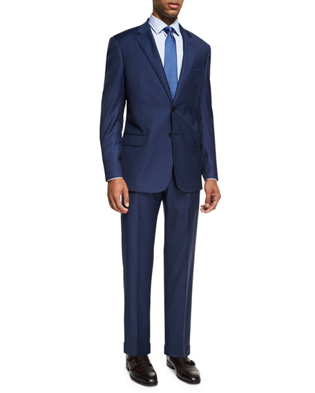 Armani Collezioni Graph Check Wool Two-Piece Suit, Bright