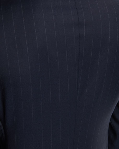 Wide-Stripe Double-Breasted Wool Two-Piece Suit