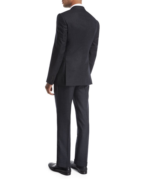 Donegal Melange Wool-Silk Two-Piece Suit