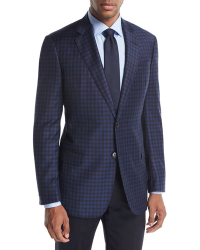 District Check Wool Two-Button Sport Coat