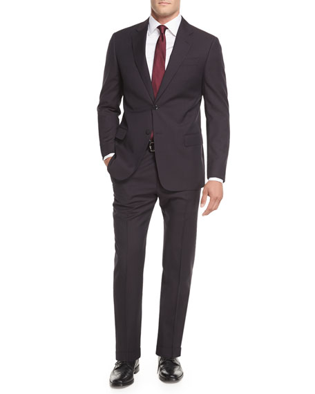 Textured Wool Two-Piece Suit
