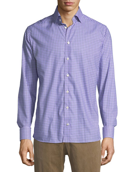 Eton Cotton Check Dress Shirt