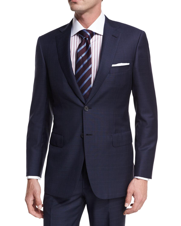 Brioni Plaid Wool Two Piece Suit Neiman Marcus