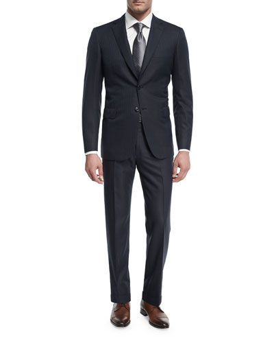 Striped Wool Two-Piece Suit