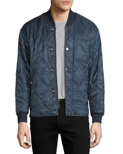 Quilted Polyester Bomber Jacket
