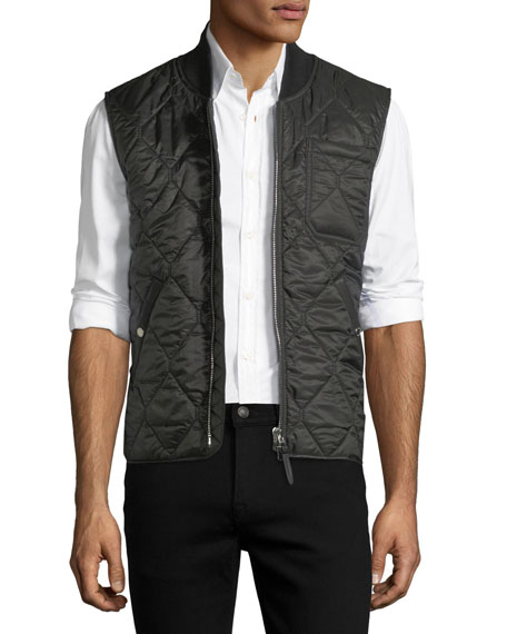 Burberry BLACK QUILTED VEST