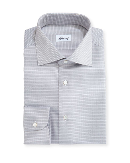 Brioni Check Dress Shirt, Tan